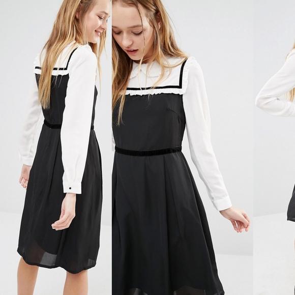 Asos Dresses I Love Friday Peter Pan Collar Dress Sz Sm Poshmark